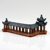 "Bonsai Keramikfigur ""Wandelgang im Sommerpalast"", Steingartendeko (XL)"