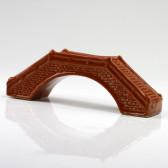 Chinesische Keramik-Brücke Gartendeko, Bonsai-Gebäude (XL)