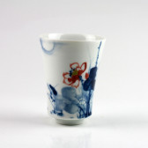 """Porzellanvase """"Lotus im Mondschein"""", chinesische Tischvase (Unikat)"""