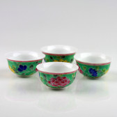 "Teeschalen-Set ""Baba-Nyonya"", chinesische Teekultur (Sammeltassen)"