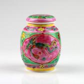 """Teedose Keramik """"Baba-Nyonya"""", Peranakan-Porzellan"""