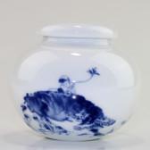 """Chinesische Porzellan-Teedose """"Wasserbüffel"""""""