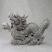 Chinesischer Drache Long Feng Shui Steinskulptur groß