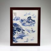 "Chinesisches Bild ""Segelidylle"", Wandbild Porzellan"