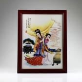 """Chinesisches Bild """"Yang Guifei"""", asiatische Wanddeko Keramik, """"Die Vier Schönheiten"""""""