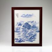 "Chinesisches Wandbild ""Palast des Friedens"", Porzellanbild  Keramik-Fliese"