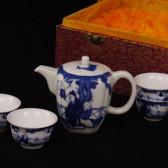"Chinesisches Teeservice ""Lehrer"", Porzellan Handbemalt Sammlerstück"