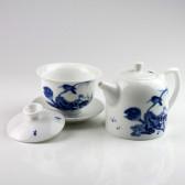 """Chinesisches Tee-Set """"Lotuszweig"""", Porzellan-Teekanne, Gaiwan, 2-teilig"""