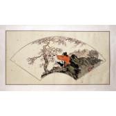 """Peng Guo Lan """"Dame mit Kranich und Pflaumenbaum"""""""
