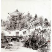 "An Ping Ping ""Chinesischer Garten"" chinesische Tuschemalerei"