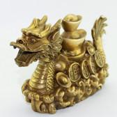 """Feng Shui Drache """"Glücksdrache"""" Drachenschiff-Skulptur"""