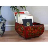 """China Möbel """"Südchinesisches Reismaß"""", traditionell rot"""