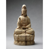 "Holzskulptur Guan-Yin ""Die Göttin der Barmherzigkeit"", Kwan Yin"