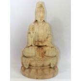 """Holzskulptur """"Die Göttin der Barmherzigkeit"""""""