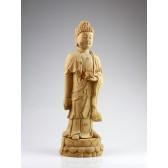 """Holzskulptur """"Reiner Bodhisattva der Ruhe"""", Amithaba Buddha Höhe: 47 cm"""