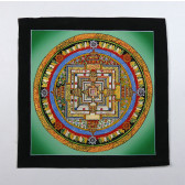 Thangka, Kalachakra Mandala, grün