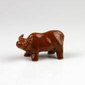 """Keramik-Figur """"Der Büffel"""", chinesisches Tierkreiszeichen"""