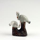 "Keramik-Figur ""Kranichpaar"", Feng Shui Bonsai-Deko (L)"