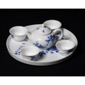 """Teeservice """"Feldlerchen"""", chinesisches Porzellan-Service, handbemalt"""