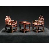 Miniaturstühle & Tisch - Herrschaftszimmer
