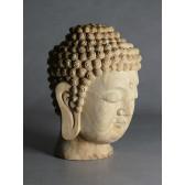"""Holzskulptur """"Kopf des Amitabha"""""""