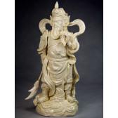"Blanc-de-Chine ""General Guan Yu"", Porzellanfigur aus Dehua"