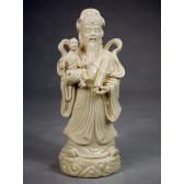 Porzellanfigur Glücksgott Fu Xing - Sanxing - Blanc de Chine