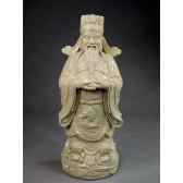 """Blanc-de-Chine """"Der Gott des Reichtums Cai Shen"""", Große Porzellanfigur"""