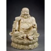 "Blanc-de-Chine ""Glücksbuddha"", Buddha Porzellan-Skulptur"