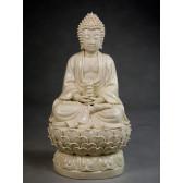 "Blanc-de-Chine ""Buddha Tathagata"", Große Porzellanfigur"