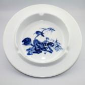 """Porzellan Aschenbecher """"Lotuszweig"""", Kalligraphie Farbmischschale"""