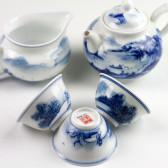 """Teeservice """"Wasserfall"""", chinesisches Tee-Set Porzellan, handbemalt"""