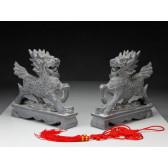 """Steinfiguren """"Qilin"""", Qing-Dynastie"""