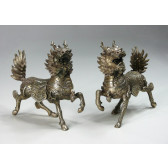 "Bronzefigur ""Glückstier Qi Lin"""