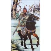 """Rollbild """"Die Drei Waffenbrüder - Guan Yu"""""""
