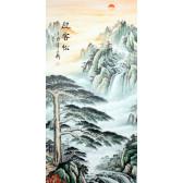 """Rollbild Landschaft """"Morgengruß"""", chinesische Bildrolle (groß)"""