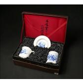 """Chinesische Teetasse mit Deckel """"Rosen-Mondnacht"""" Geschenkset"""