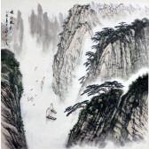 """Chen Zhengming """"Schiffe in den Schluchten des Yangtse"""""""