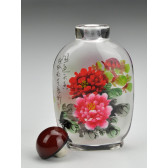 "Snuff Bottle ""Bunte Pfingstrosen"""