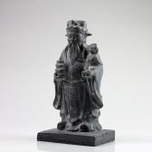 """Steinfigur """"Luxing"""", chinesischer Glücksgott, Feng Shui Stein-Figur"""