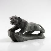 Tiger Steinfigur massiv, chinesisches Tierkreiszeichen
