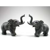 "Steinfiguren ""Glückselefanten"", Elefanten-Skulpturen aus Naturstein"