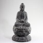 """Steinskulptur """"Buddha Amitabha auf Lotusthron"""", Stein-Statue groß"""