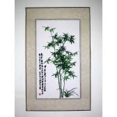 """Stickbild  """"Bambus"""", grün"""