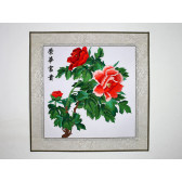 """Stickbild Chinesische Blumen """"Rote Pfingstrose"""""""