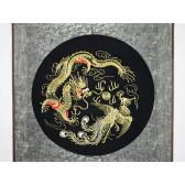 """Feng Shui Stickbild """"Drache und Phönix"""" (quadratisch)"""