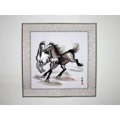"""Stickbild """"Prächtige Pferde"""", Xu Beihong"""