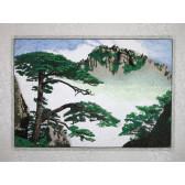 """Stickbild """"Kiefer im Huang Shan Nebel"""""""