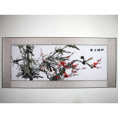 """Stickbild """"Bambus und Pflaumenblüte"""""""