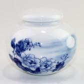 """Chinesische Teedose Porzellan """"Chrysanthemen im Mondschein"""""""